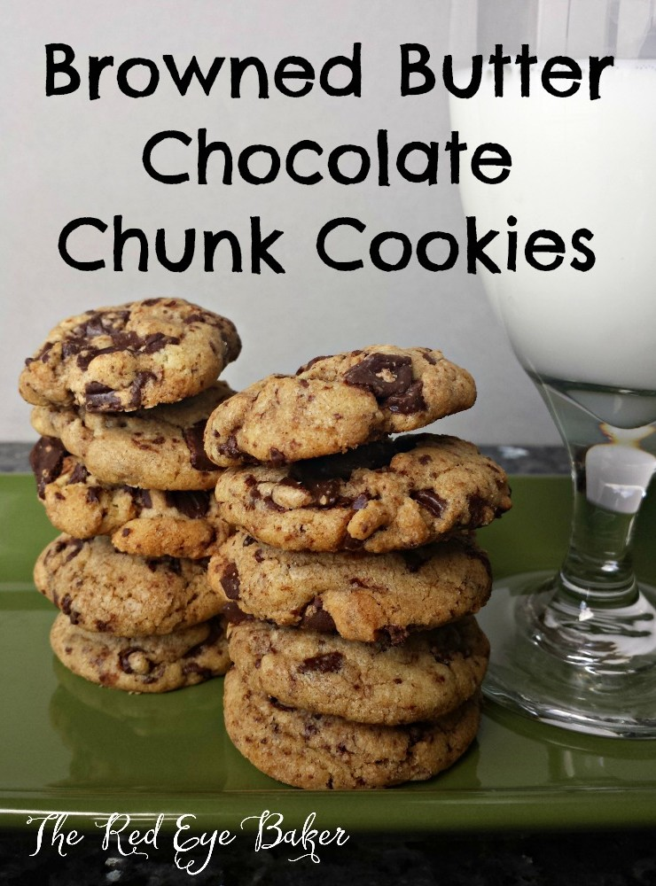 Browned Butter Chocolate Chunk Cookies