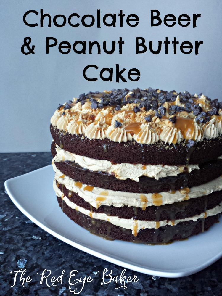 Chocolate Beer & Peanut Butter Cake