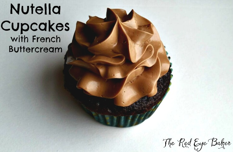 Nutella Cupcakes with French Buttercream
