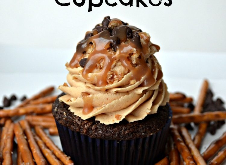Chocolate Beer & Pretzel Cupcakes