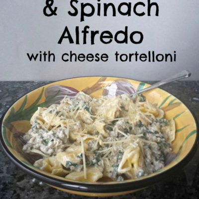 Easy Sausage & Spinach Alfredo