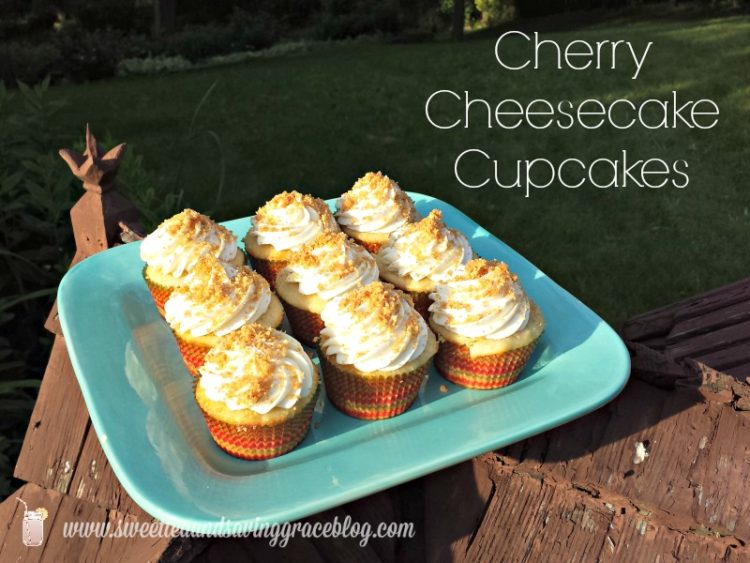 Cherry Cheesecake Cupcakes