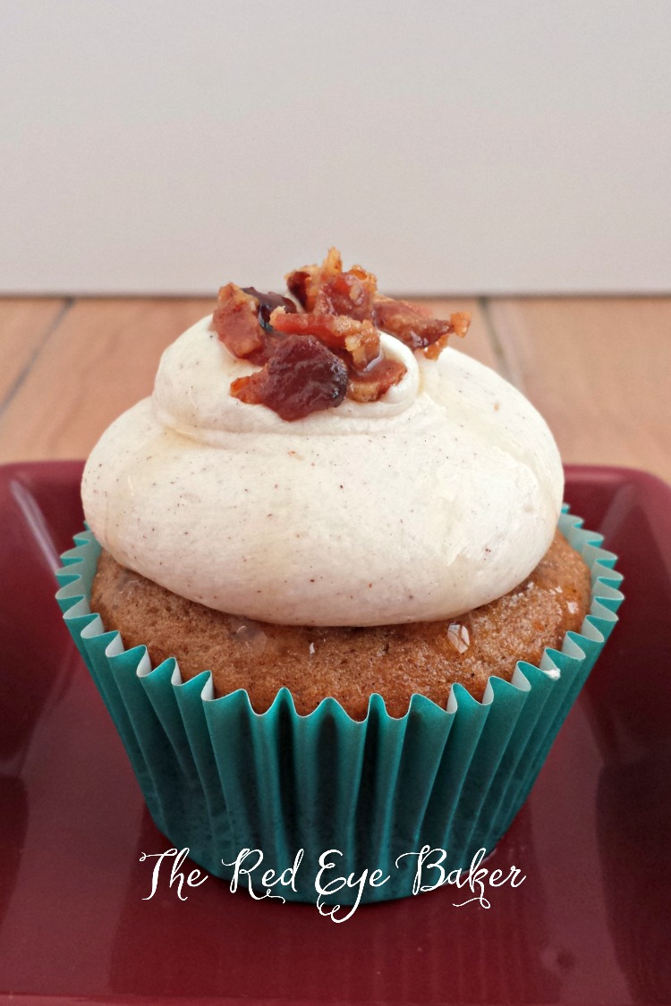 Maple Bacon Sweet Potato Cupcakes