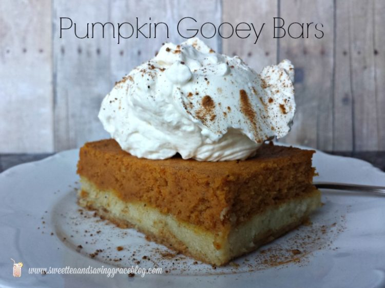 Pumpkin Gooey Bars from Scratch