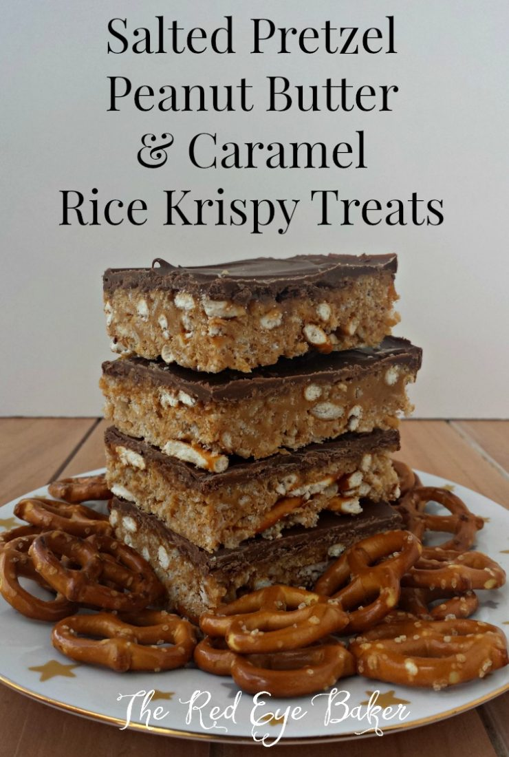 Pretzel Peanut Butter & Caramel Rice Krispy Treats