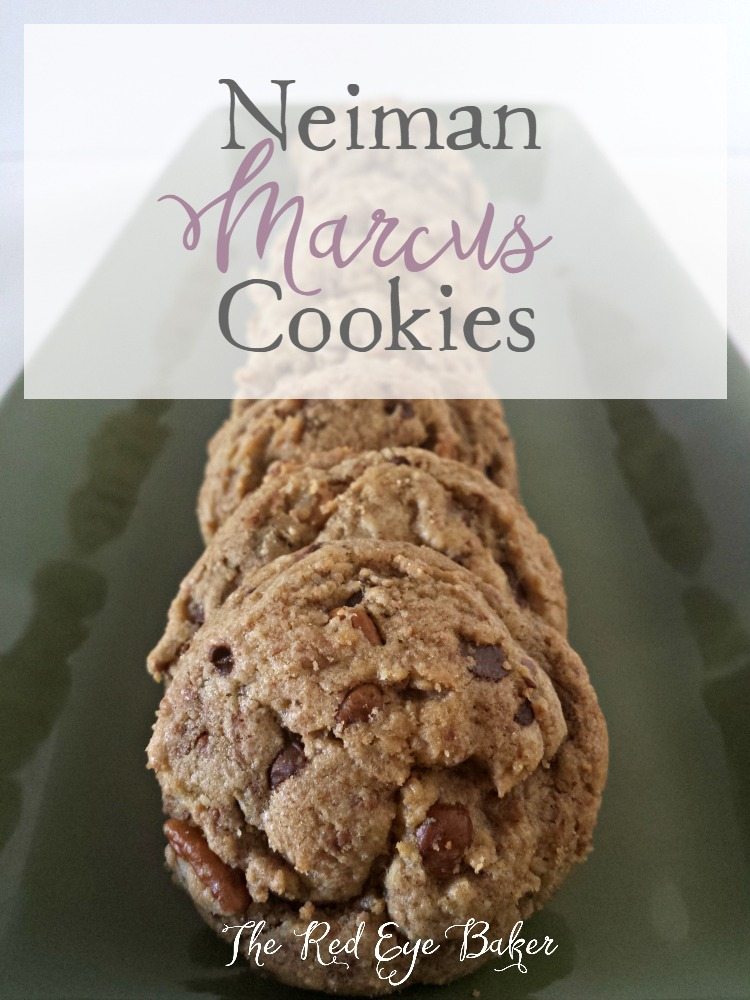 Neiman Marcus Cookies are a cookie lovers dream. Not just an ordinary chocolate chip cookie, loaded with 2 kinds of chocolate, pecans, and oatmeal. Delish!