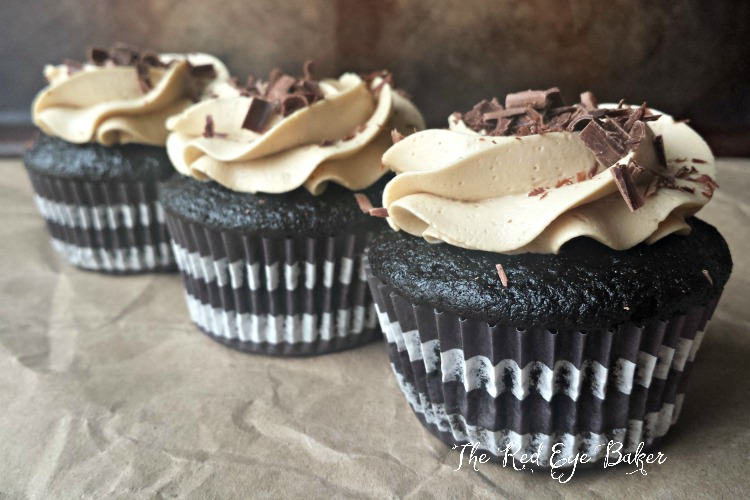 Mocha Stout Cupcakes | A delicious pairing of dark chocolate with a rich stout, topped with Swiss meringue buttercream make these Mocha Stout Cupcakes stand out in flavor.