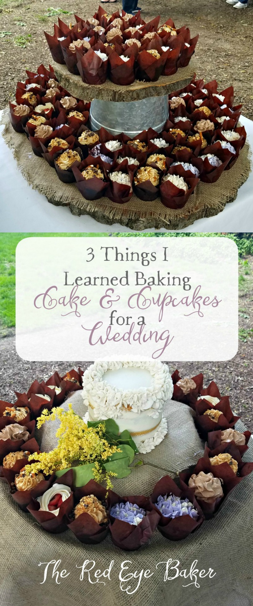 3 Things I Learned Baking Cake & Cupcakes for a Wedding | It was my largest baking adventure so far! Read all about my tips for pulling off such a feat.