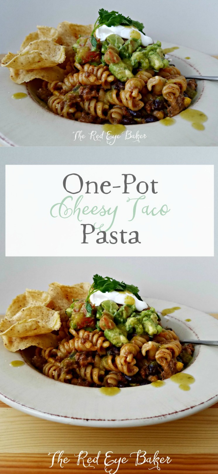 One-Pot Cheesy Taco Pasta | 30 minute meals are a mom's best friend! This One-Pot Cheesy Taco Pasta is an simple and tasty way to get the family fed any day of the week.