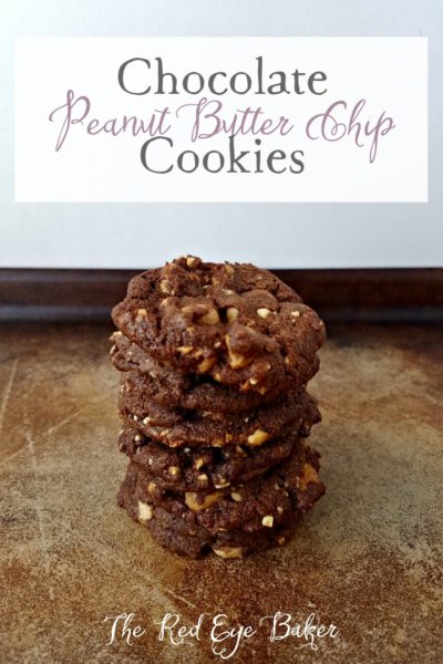 Chocolate Peanut Butter Chip Cookies | Filled with peanut butter chips and chopped peanuts these Chocolate Peanut Butter Chip Cookies are also chocolaty and delicious!