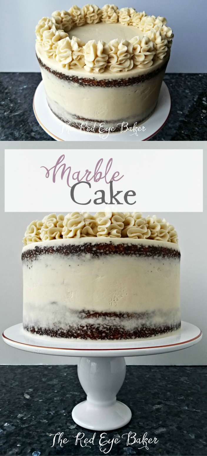 Marble Cake   Delicious chocolate and vanilla cake swirl together making this Marble Cake with Chocolate Pudding Filling moist and super tasty!