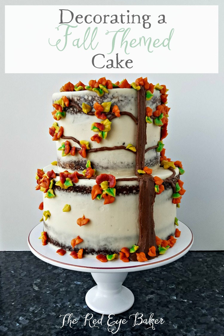 Decorating a Fall Themed Cake | Celebrate fall by checking out my tips for Decorating a Fall Themed Cake. All you need is some fall inspiration and some buttercream and a cake of course.