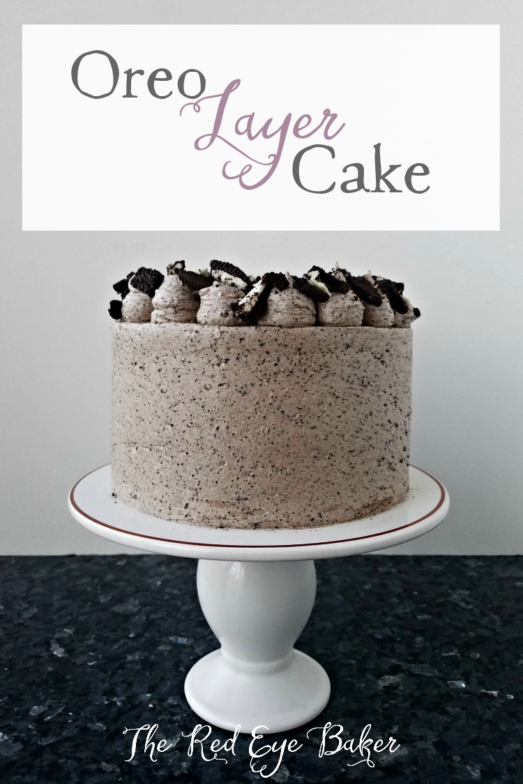"Oreo Layer Cake | This 6"" Oreo Layer Cake is perfect for when you want to have a tasty cake without all the leftovers. A cookies and cream lovers delight!"