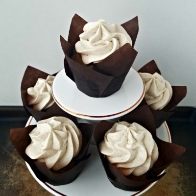 Pumpkin Cupcakes with Whipped Cinnamon Buttercream